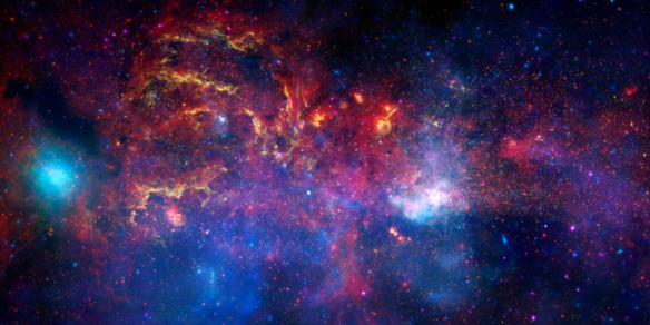 The central region of the Milky Way galaxy.